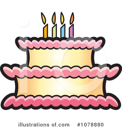 Birthday Flower Cake on Birthday Cake Clipart  1078880 By Lal Perera   Royalty Free  Rf  Stock