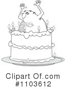 Royalty-Free (RF) Birthday Cake Clipart Illustration #1103612
