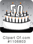 50th Birthday Clipart #1 - 5 Royalty-Free (RF) Illustrations
