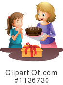 Royalty-Free (RF) Birthday Cake Clipart Illustration #1136730