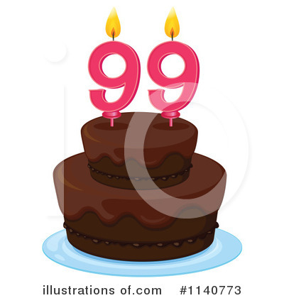 Royalty-Free (RF) Birthday Cake Clipart Illustration by Graphics RF - Stock Sample #1140773