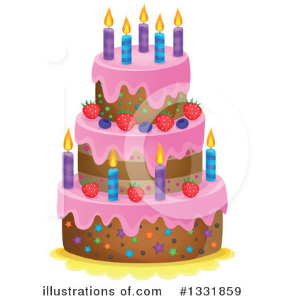 Birthday Cake Clipart #1331859 by visekart