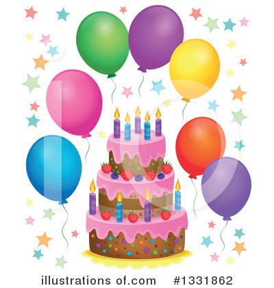 Birthday Cake Clipart #1331862 by visekart