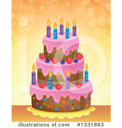 Birthday Cake Clipart #1331863 by visekart