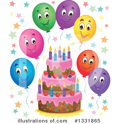 Royalty-Free (RF) Birthday Cake Clipart Illustration by visekart - Stock Sample #1331865