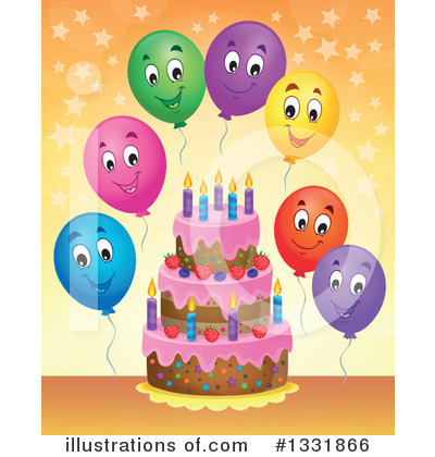 Birthday Cake Clipart #1331866 by visekart