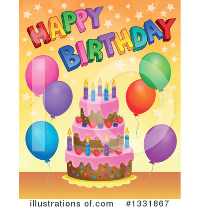 Birthday Cake Clipart #1331867 by visekart