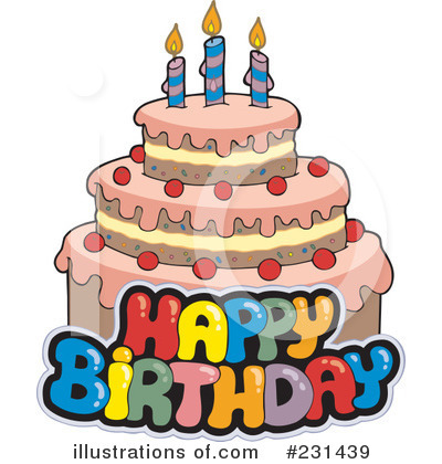 Birthday Cake Picture on Birthday Cake Clipart  231439 By Visekart   Royalty Free  Rf  Stock