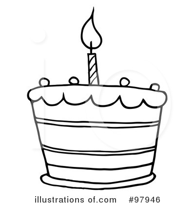 Royalty-Free (RF) Birthday Cake Clipart Illustration #97946 by Hit ...