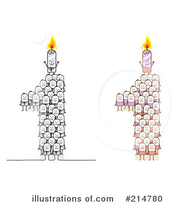 Royalty-Free (RF) Birthday Candle Clipart Illustration by NL shop - Stock Sample #214780