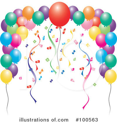 Balloons Clipart #100563 by Pams Clipart