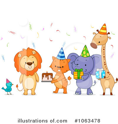 Party Animals Clipart #1063478 by BNP Design Studio