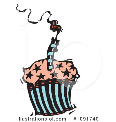 Birthday Candle Clipart #1091740 by Steve Klinkel