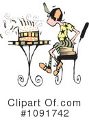 Birthday Clipart #1091742 by Steve Klinkel