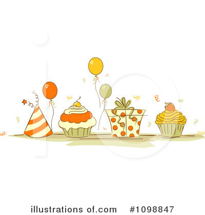 Party Balloons Clipart #1098847 by BNP Design Studio