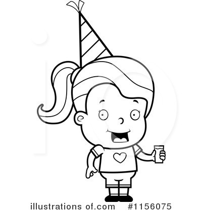 Birthday Girl Clipart #1156075 by Cory Thoman