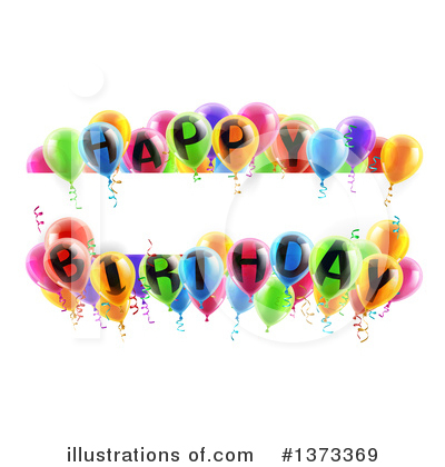 Party Balloons Clipart #1373369 by AtStockIllustration