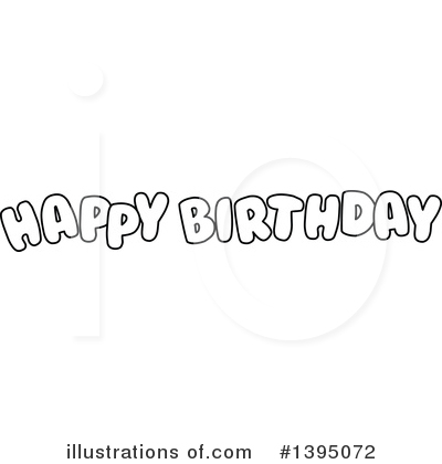 Birthday Clipart #1395072 by Liron Peer