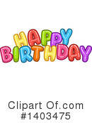 Birthday Clipart #1403475 by Liron Peer
