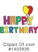 Birthday Clipart #1403935 by Cherie Reve