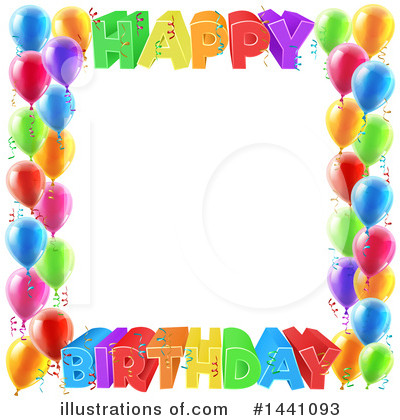 Happy Birthday Clipart #1441093 by AtStockIllustration