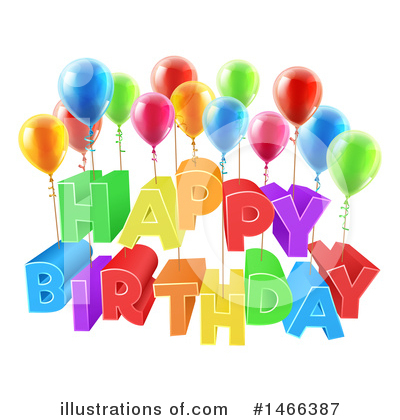 Happy Birthday Clipart #1466387 by AtStockIllustration