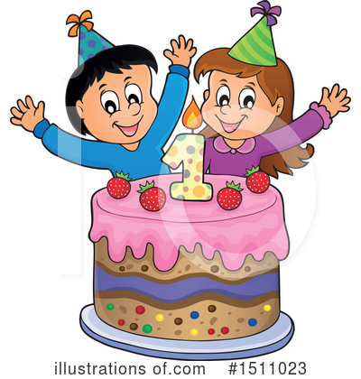 Birthday Cake Clipart #1511023 by visekart