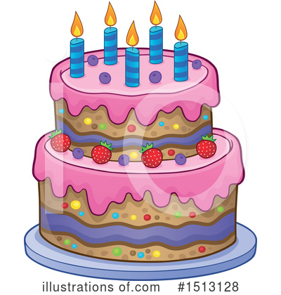 Birthday Cake Clipart #1513128 by visekart