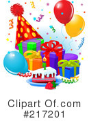 Royalty-Free (RF) Birthday Clipart Illustration #217201