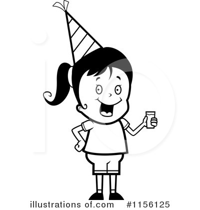 Birthday Girl Clipart #1156125 by Cory Thoman