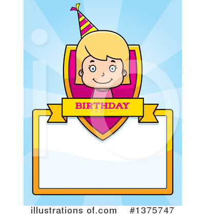 Birthday Girl Clipart #1375747 by Cory Thoman