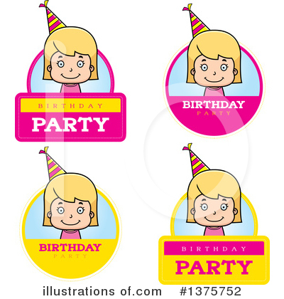 Birthday Girl Clipart #1375752 by Cory Thoman