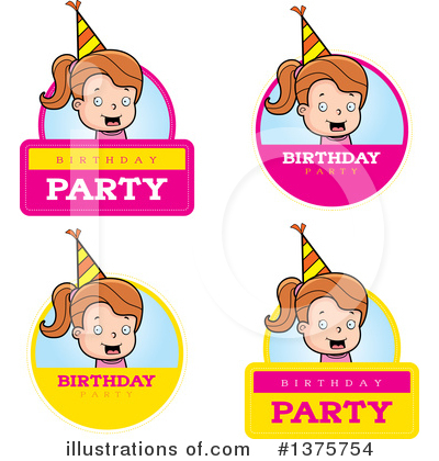 Birthday Girl Clipart #1375754 by Cory Thoman