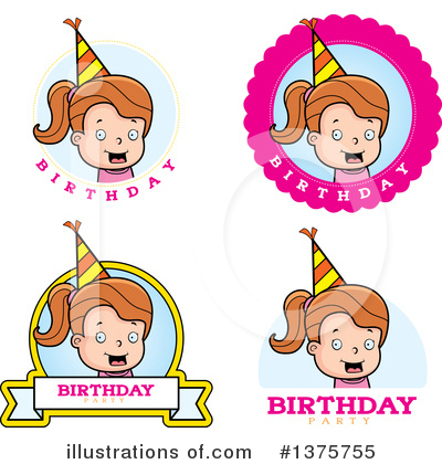 Birthday Girl Clipart #1375755 by Cory Thoman