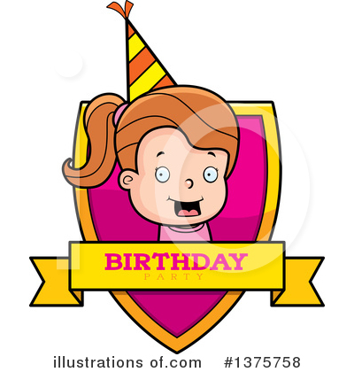 Birthday Girl Clipart #1375758 by Cory Thoman