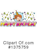 Birthday Girl Clipart #1375759 by Cory Thoman