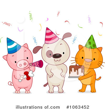Party Animals Clipart #1063452 by BNP Design Studio