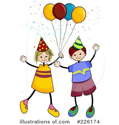 birthday party clipart 226174 illustration by bnp design studio rh illustrationsof com clip art birthday party pictures clip art birthday party pictures