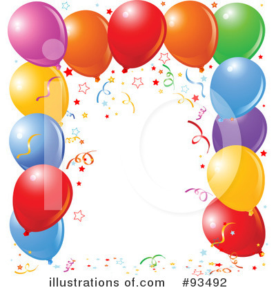 Royalty-Free (RF) Birthday Party Clipart Illustration by Pushkin