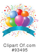 Royalty-Free (RF) Birthday Party Clipart Illustration #93495