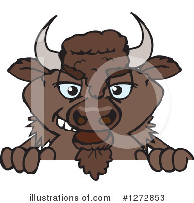 Bison Clipart #1272853 by Dennis Holmes Designs