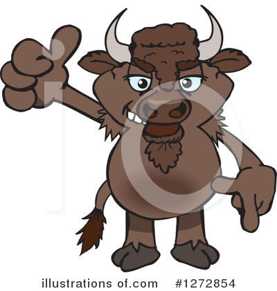 Bison Clipart #1272854 by Dennis Holmes Designs