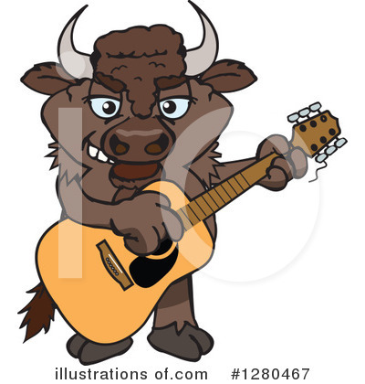 Bison Clipart #1280467 by Dennis Holmes Designs