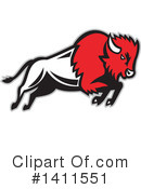 Royalty-Free (RF) Bison Clipart Illustration #1411551