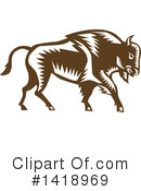 Bison Clipart #1418969 by patrimonio