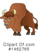 Royalty-Free (RF) Bison Clipart Illustration #1462765