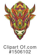 Royalty-Free (RF) Bison Clipart Illustration #1506102