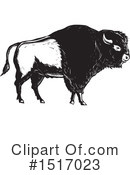 Royalty-Free (RF) Bison Clipart Illustration #1517023