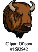 Bison Clipart #1693942 by Vector Tradition SM