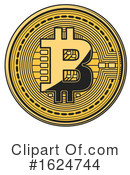 Bitcoin Clipart #1624744 by Vector Tradition SM